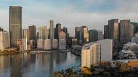 MIAMI - 31 MARS 2018 : Clé et Miami du centre v aérien de Brickell Images libres de droits
