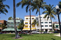 MIAMI - May 9, 2013: South Beach Miami with its iconic Art Deco Stock Photo