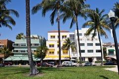 MIAMI - 9 mei, 2013: Zuidenstrand Miami met zijn iconisch Art Deco Stock Foto