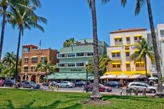 MIAMI - 9 mei, 2013: Zuidenstrand Miami met zijn iconisch Art Deco Stock Foto's