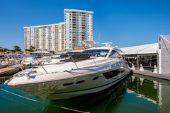 Miami Międzynarodowy Łódkowaty przedstawienie Zdjęcia Stock
