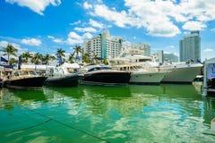 Miami Międzynarodowy Łódkowaty przedstawienie obraz royalty free
