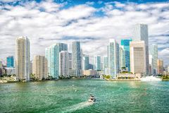 Miami miasta linii horyzontu widok zdjęcie stock
