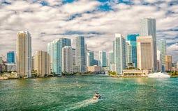 Miami miasta linii horyzontu widok obraz stock
