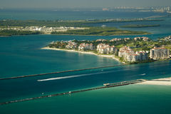 Miami miasta nabrzeże obrazy royalty free