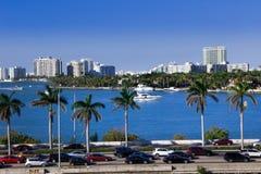 Miami, modo della strada soprelevata di MacArthur, U.S.A., Florida Fotografia Stock