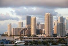 Miami molnig morgon Arkivbilder