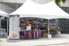 Miami Museum booth Royalty Free Stock Photo