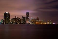 Miami (nacht) Royalty-vrije Stock Afbeeldingen
