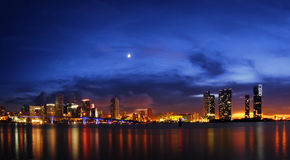 Miami nachts Lizenzfreie Stockfotografie