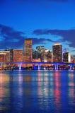 Miami-Nachtszene lizenzfreie stockfotografie