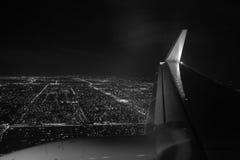 Miami-Nachtvogelperspektive Stockfotografie