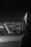 Miami-Nachtvogelperspektive Stockbild