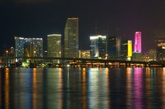 Miami at Night Stock Image