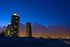 Miami at night. Miami South Beach at night Stock Images