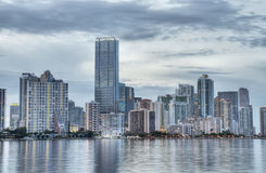 Miami at Night Royalty Free Stock Photography