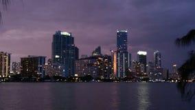 Miami night. Down town Miami at night royalty free stock image