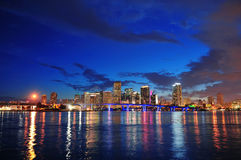Miami night scene Royalty Free Stock Photos