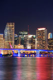 Miami night scene Stock Image