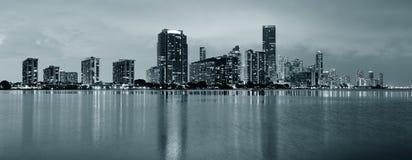 Miami night scene Royalty Free Stock Photo
