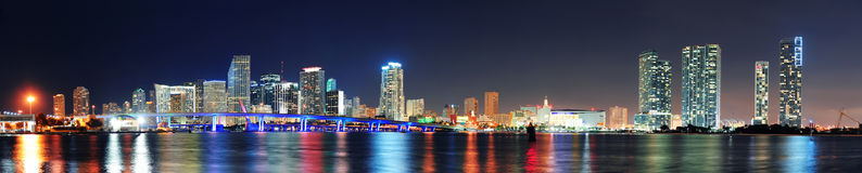 Miami night scene Stock Photography