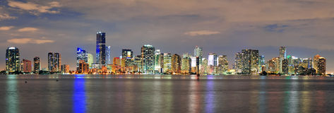 Miami night scene Stock Image