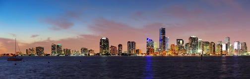 Miami night scene Stock Images