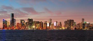 Miami night scene Royalty Free Stock Image