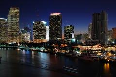 Miami at Night Stock Image