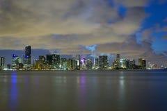 Miami at night Royalty Free Stock Photos