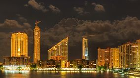 Miami at night stock video