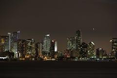 Miami Noc Zdjęcia Royalty Free