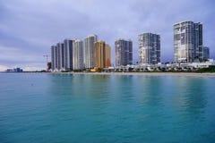 Miami sun rise. Miami north beach at sun rise royalty free stock image