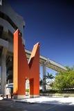 Miami orange linje tunnelbanaspårvagnstation Royaltyfri Fotografi