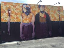 Miami paint wall willwood arts Stock Photo