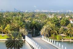 Miami Palmowej wyspy wejście Fotografia Royalty Free