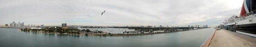 Miami Panorama Stock Images