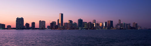 Miami Panorama Royalty Free Stock Images