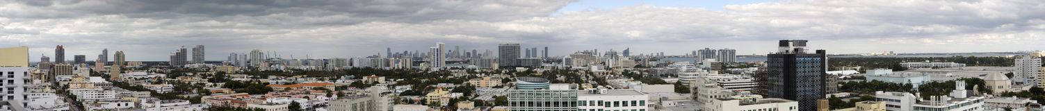 Miami-Panorama stockfoto