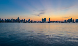 Miami Panorama at Sunset Royalty Free Stock Image
