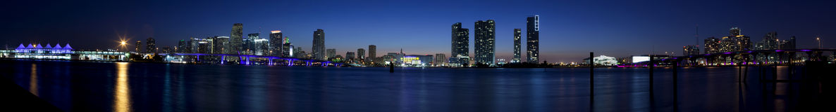 Miami Panoramic Royalty Free Stock Photography