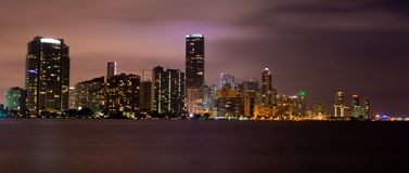 Miami (panoramic) Royalty Free Stock Photo