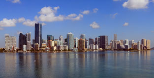 Miami Panoramic Skyline Royalty Free Stock Photos