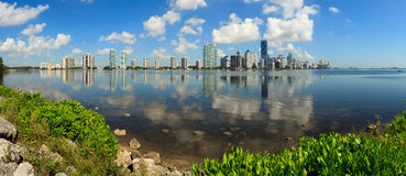 Miami Panoramic Skyline Stock Images