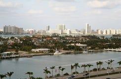 Miami par l'eau photos stock