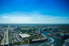 Miami pejzaż miejski od widok z lotu ptaka Obrazy Stock