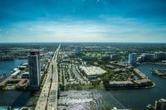 Miami pejzaż miejski od widok z lotu ptaka Fotografia Royalty Free