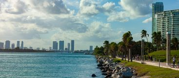 Miami pejza? miejski fotografia royalty free