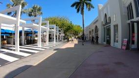 Miami plaży Lincoln centrum handlowego Hyperlapse Drogowy wideo zbiory