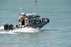 Miami plaży policji łódź patrolowa obraz stock